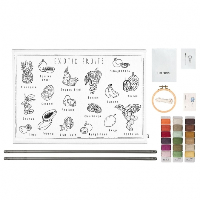 Numero 74 School Poster Kit Exotic Fruits