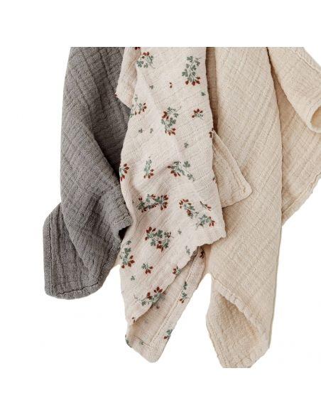 Garbo & Friends Clover Muslin Burp Cloths