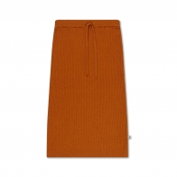 Knit Skirt Warmed Rust Brown