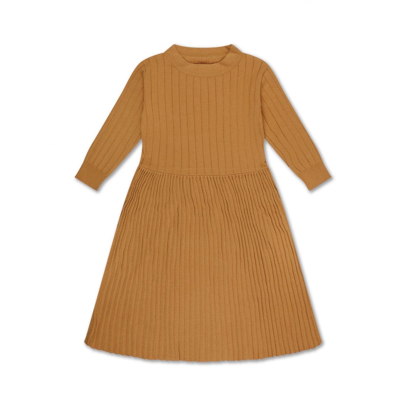 Repose AMS Knit Dress Smooth Camel Brown