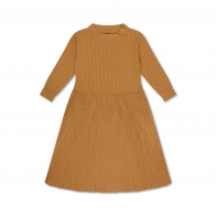 Knit Dress Smooth Camel Brown