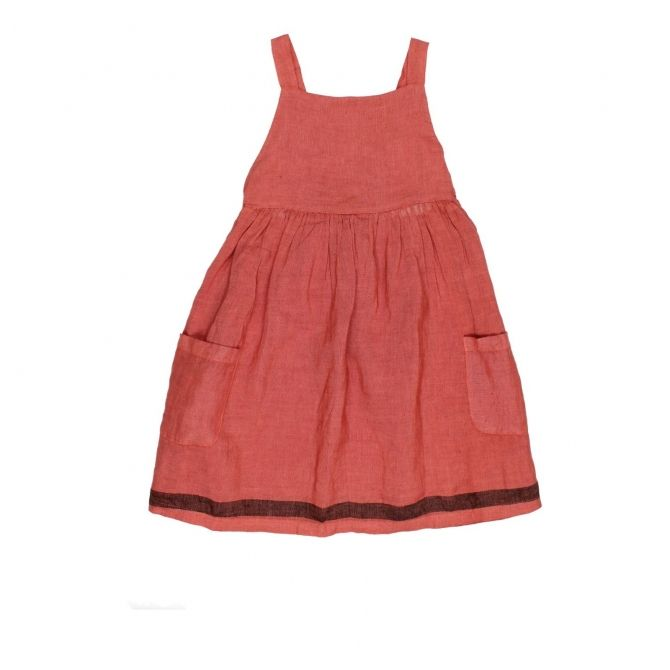 Búho Barcelona Yvonne Dungarees Dress Red
