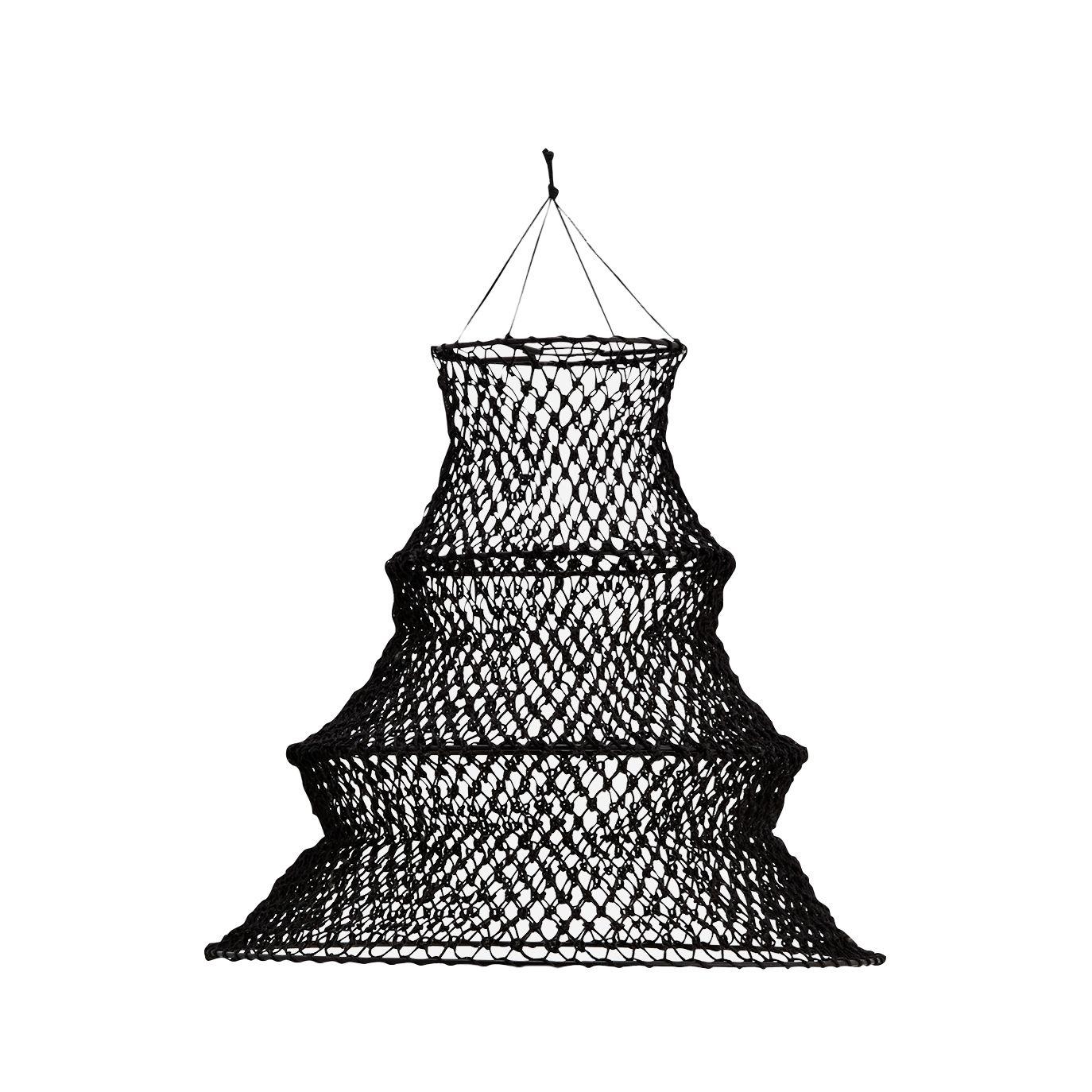 Madam Stoltz Jute Macrame Lamp Shade Black
