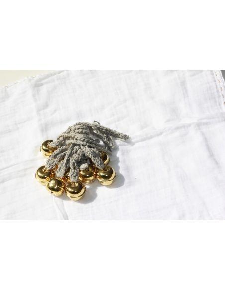 Numero 74 Girlanda Ding Ding beżowa złote dzwonki