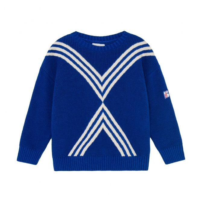 Bobo Choses Three Stripes Knitted Jumper Blue