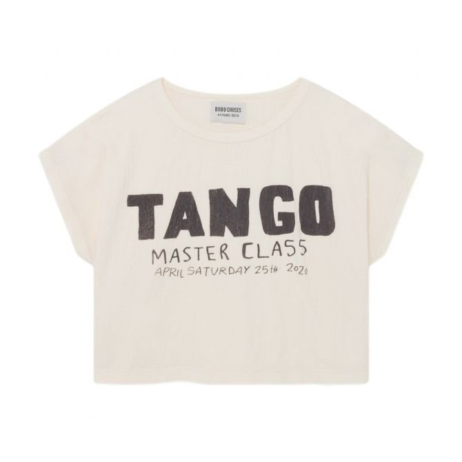 Bobo Choses Tango Short Sleeve T-shirt White