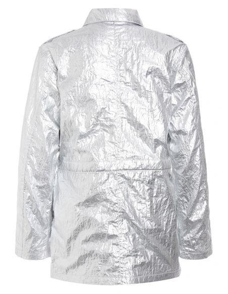 Les Coyotes de Paris Kurtka Ace Silver Metalic srebrna