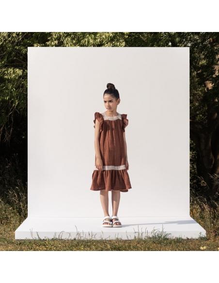 The New Society Sukienka Narcisse Brązowa
