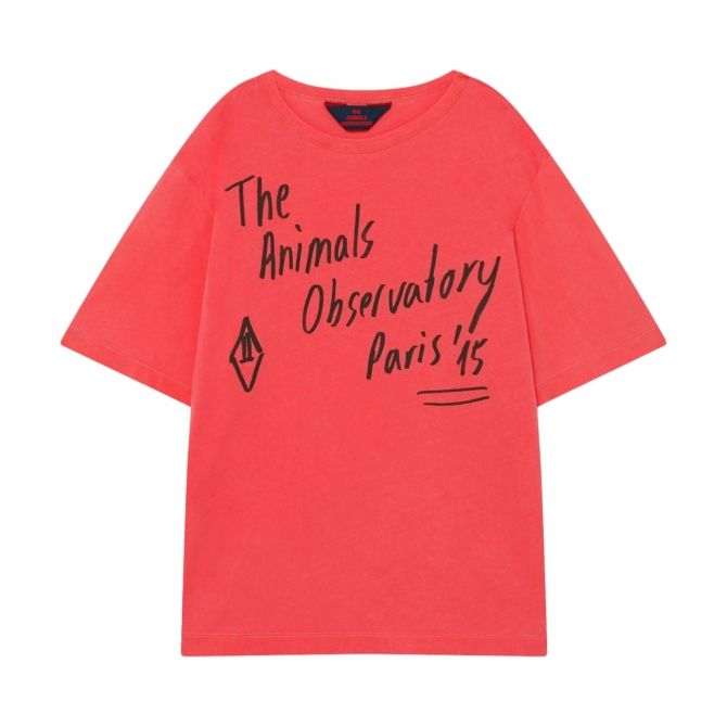 The Animals Observatory Rooster T-shirt Oversize Red