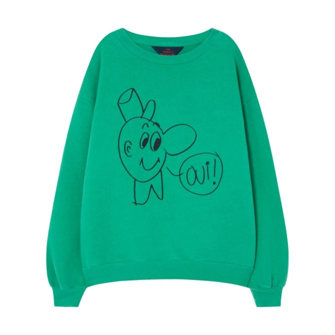 The Animals Observatory Bear Kids Sweatshirt Green