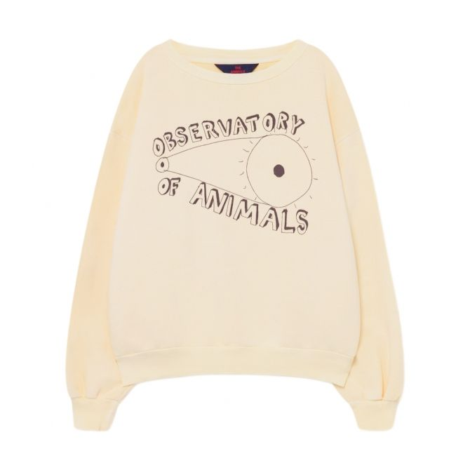 The Animals Observatory Bear Kids Sweatshirt Ecru