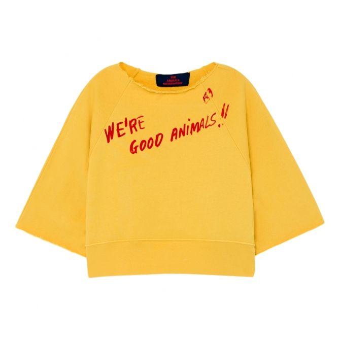 The Animals Observatory Squab Kids Sweatshirt Yellow