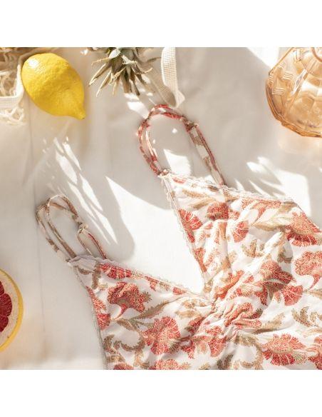 Louise Misha Bodysuit Ditya Bohemian Flowers White