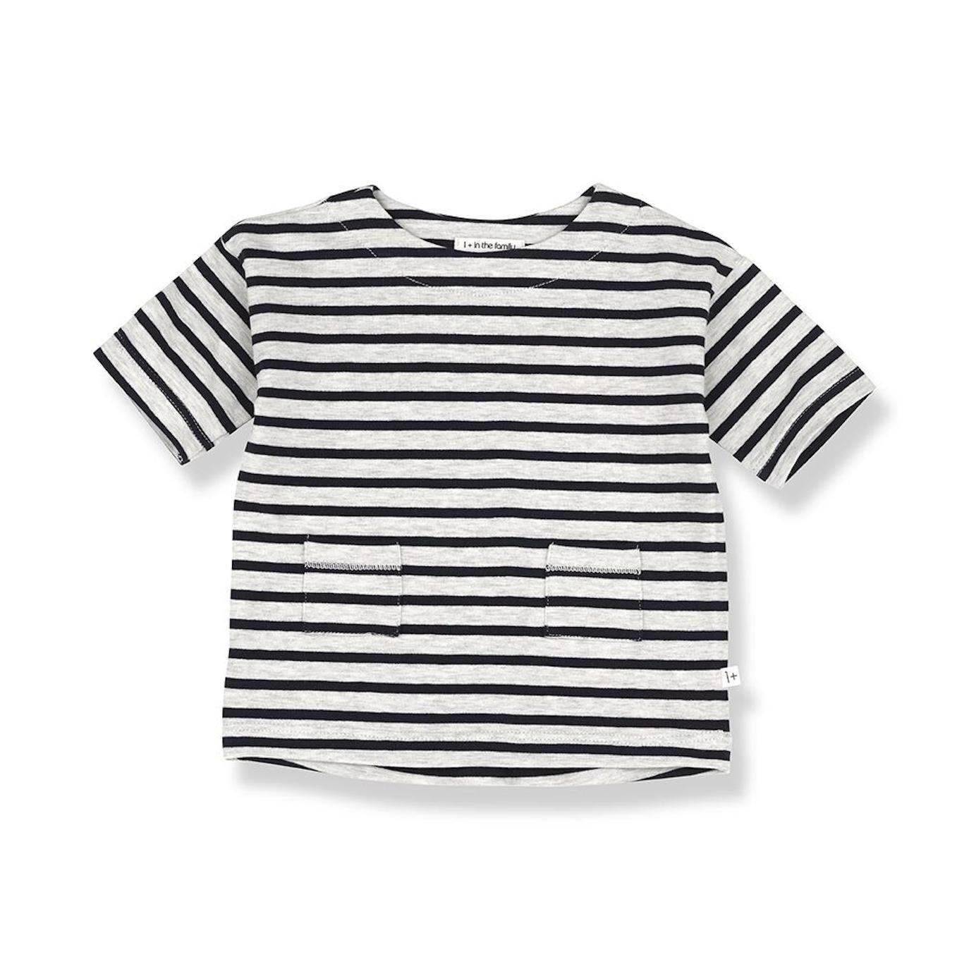 1 + in the family - Agnes Dress Grey-Black - 1
