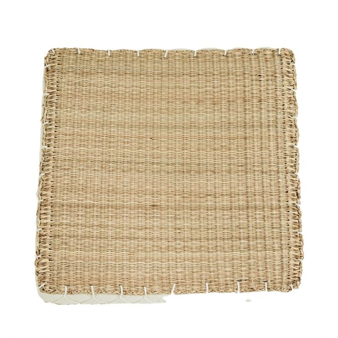 Squared seagras chair pad
