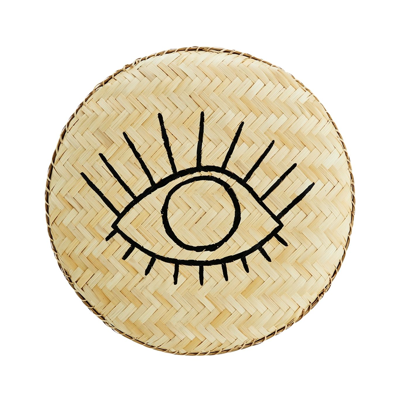 Madam Stoltz - Bamboo tray with handpainted eye - 1