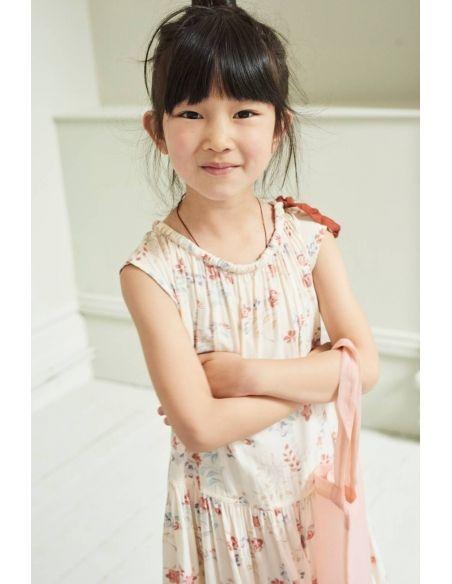 Caramel Baby & Child Dress Notting Hill Ecru With Flowers