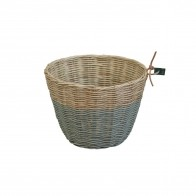 Basket rattan silver grey