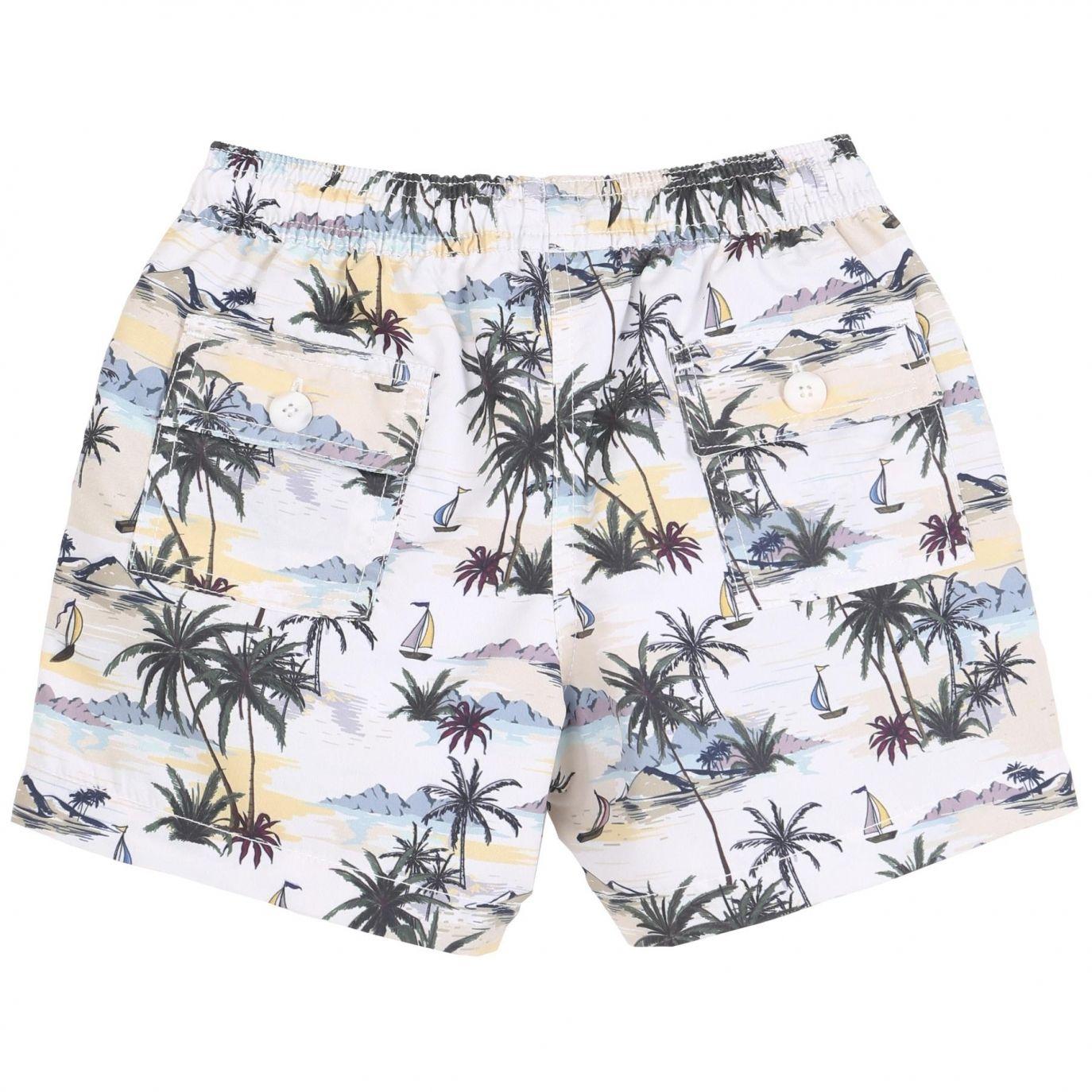 Emile et Ida - Swim Shorts Haiwai white - 1