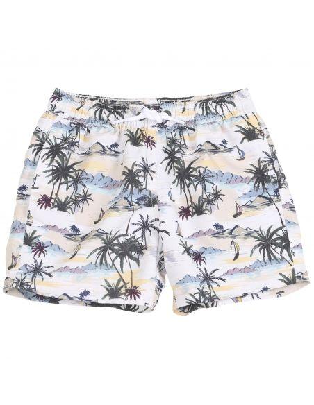 Emile et Ida - Swim Shorts Haiwai white - 2