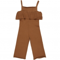 Knit Jumpsuit Busy Bear Brown