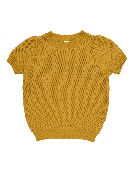 Maed for mini Knit Top Golden Grasshopper Mustard