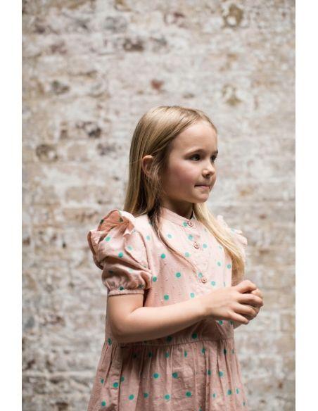 Wynken - Sukienka Puff Sleeve różowa - 2