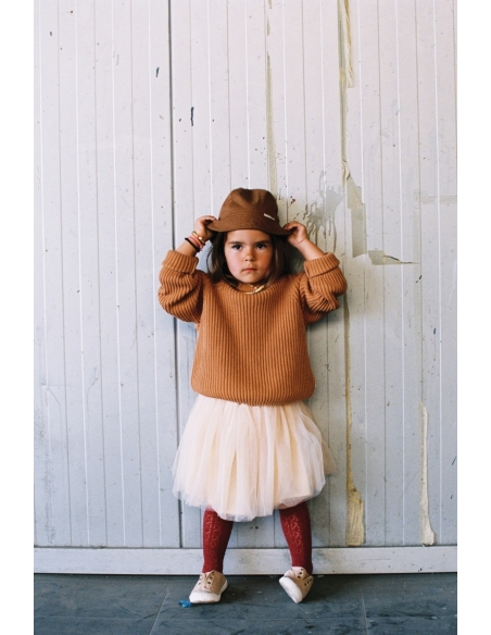 Maed for mini Knit Sweater Caramel Capybara brown