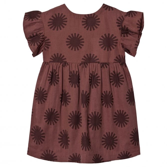 Dress Gather Clay red