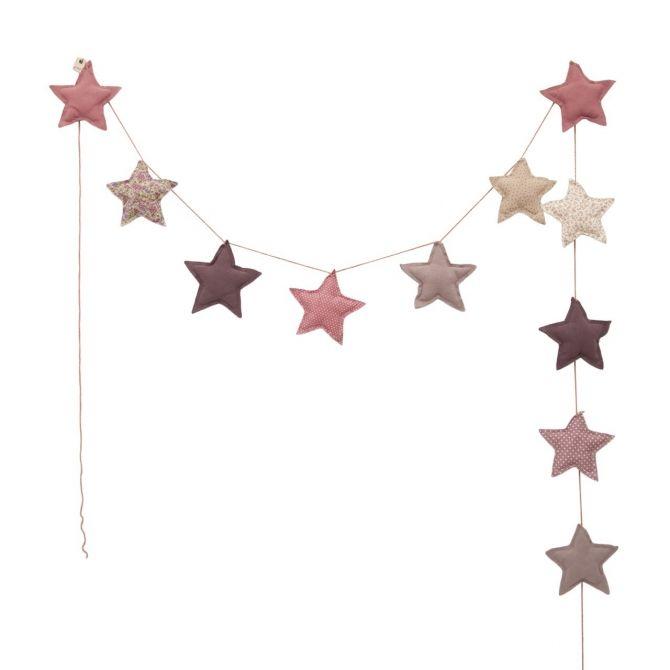Girlanda Garland Mini Star Małe Gwiazdki mix pink różowa -