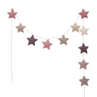 Garland Mini Star mix pink
