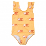 Dogs Frills Swimsuit Yellow
