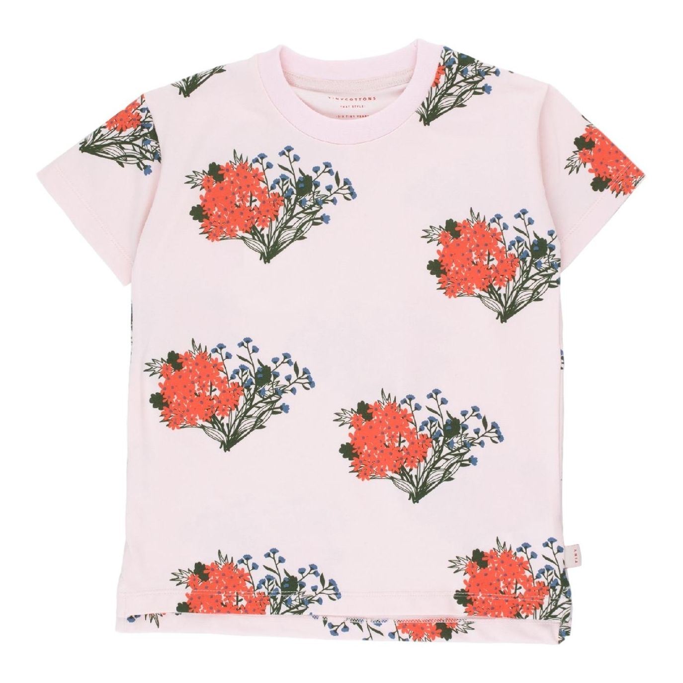 Tiny Cottons Flowers Tee Pink