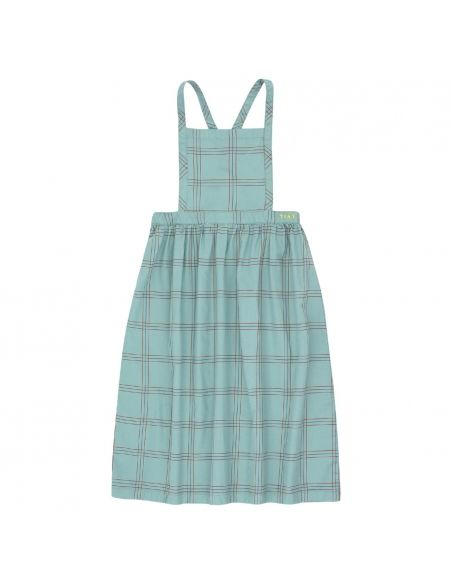 Tiny Cottons Check Braces Long Skirt Green