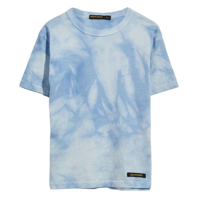 Finger in the nose T-shirt KID Pale Blue Tie Niebieski