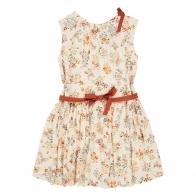 Dress Notting Hill Ecru With Flowers
