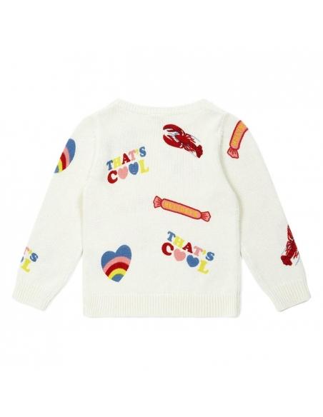 Bonton Pullover Multico White