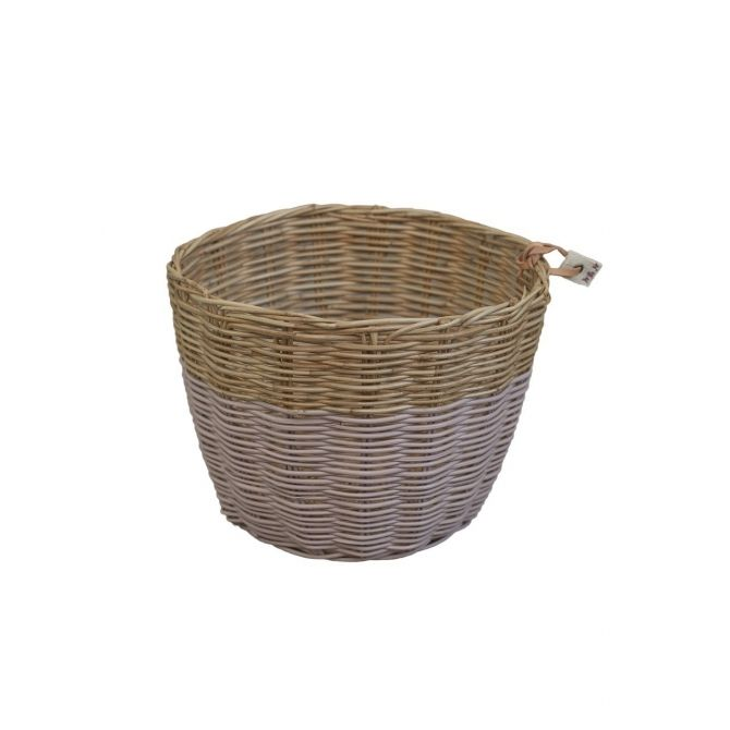 Basket rattan dusty pink - Numero 74