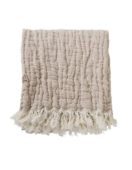 Garbo & Friends Kocyk lniany Mellow Tawny Blanket/ Throw M