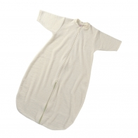Baby sleeping-bag with zipper natural
