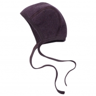Baby bonnet dark purple