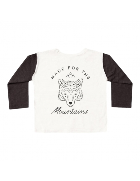 Rylee and Cru - Longsleeve Henley Mountains white - 2