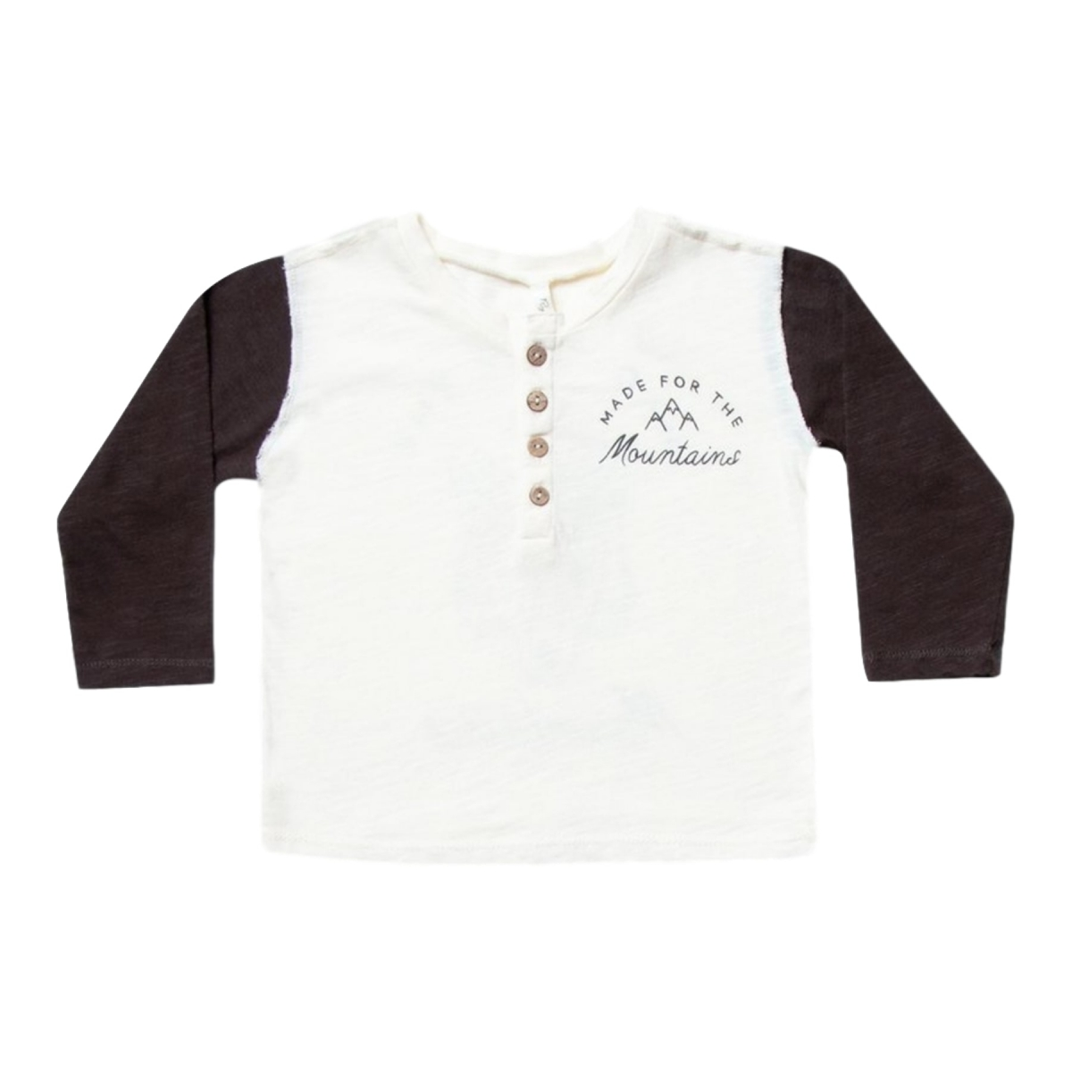 Longsleeve Henley Mountains white