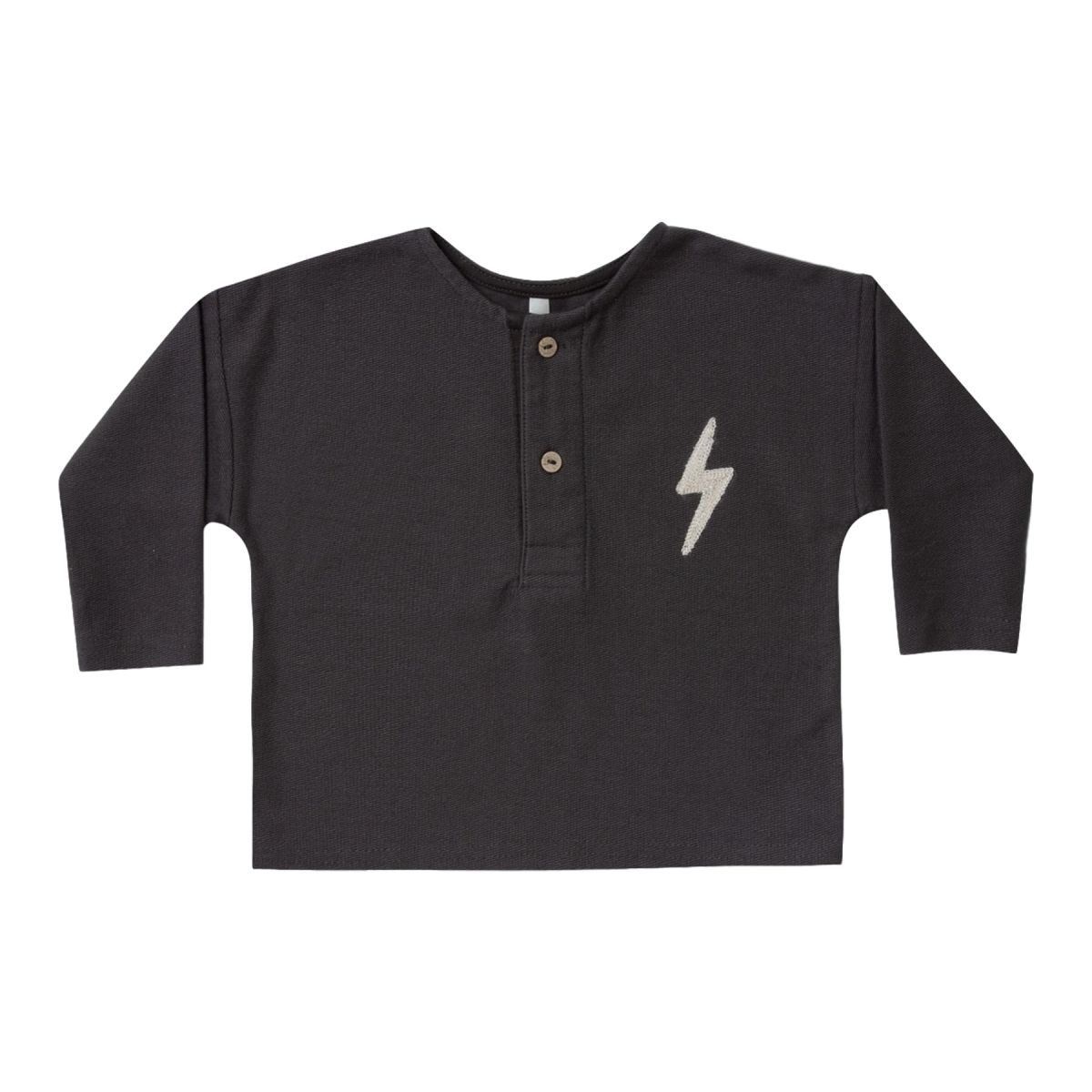 Sweatshirt henley bolt black