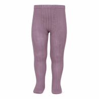 Wide Ribbed Cotton Tights amethyst