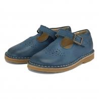 Półbuty Penny Leather T-Bar Shoe Ocean Blue niebieskie