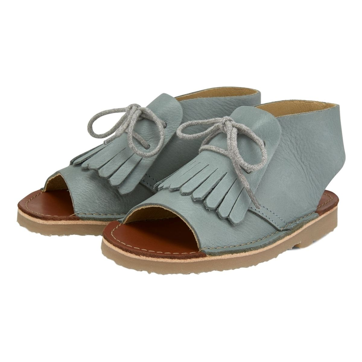 Young Soles Buty Agnes Leather Smokey Sage szare