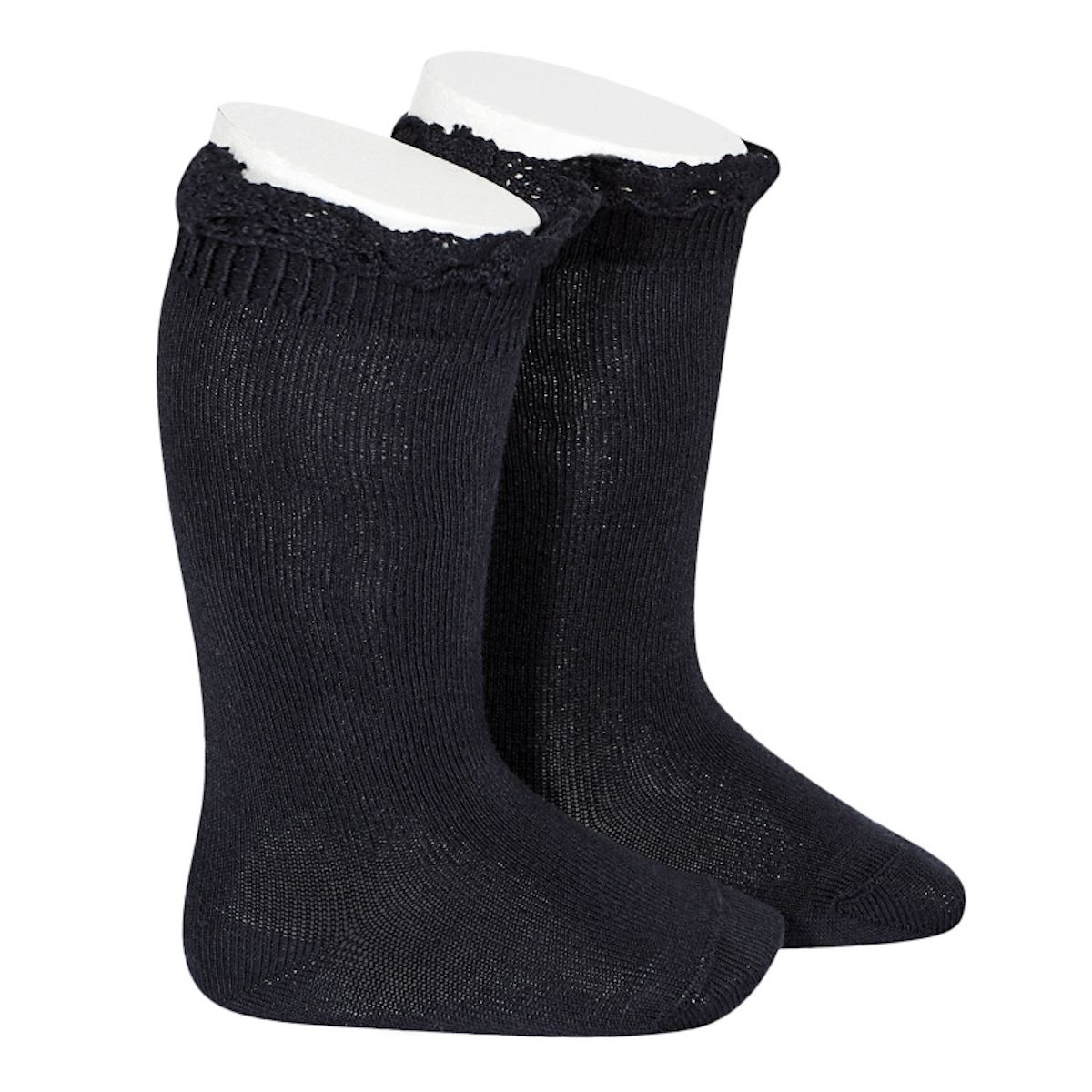 Condor Knee Socks With Lace navy blue