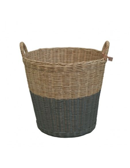 Numero 74 Basket rattan dark grey