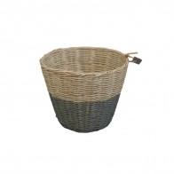 Koszyk Basket rattan rattanowy dark grey ciemny szary